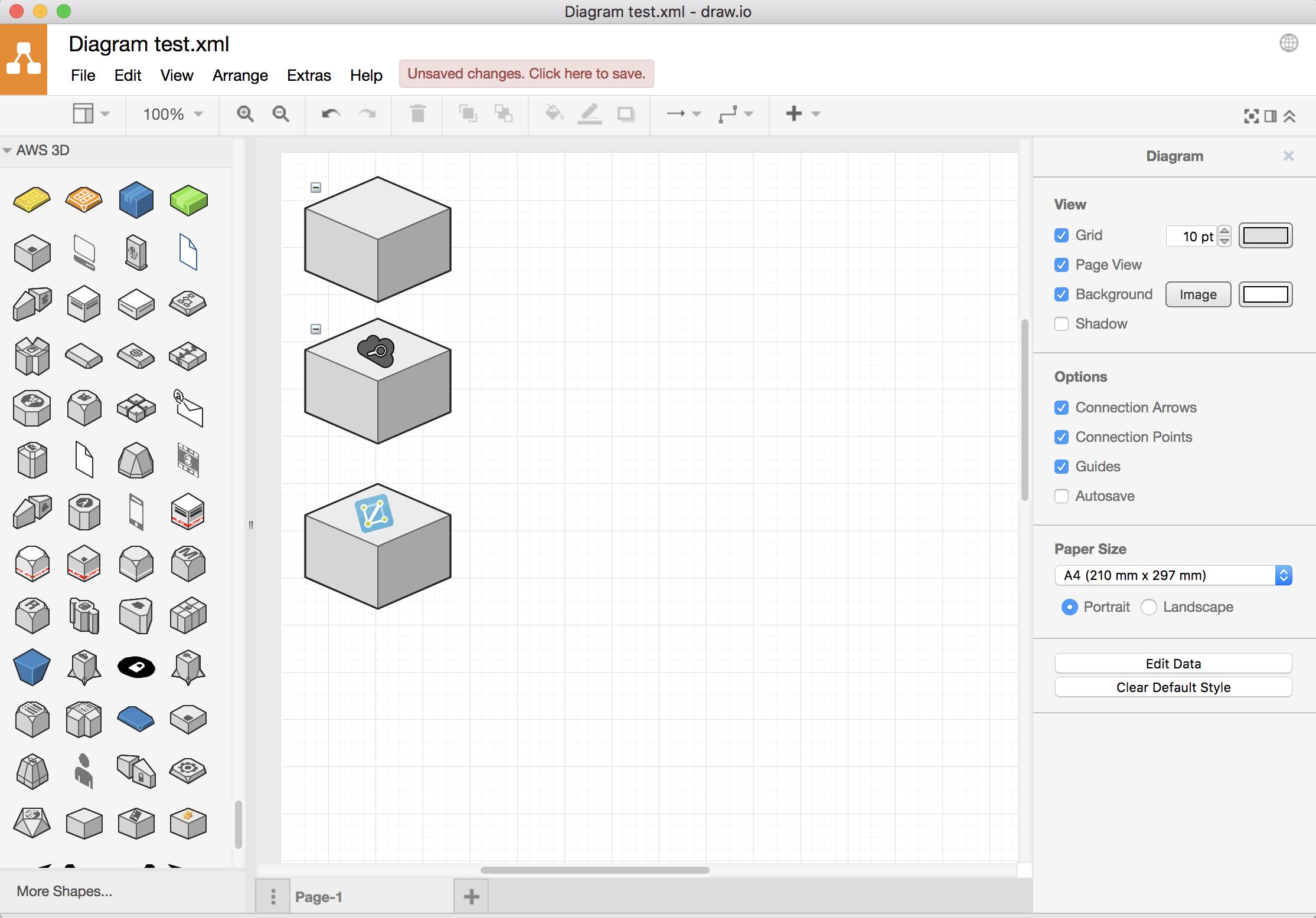 Draw Io Azure Isometric Diagram
